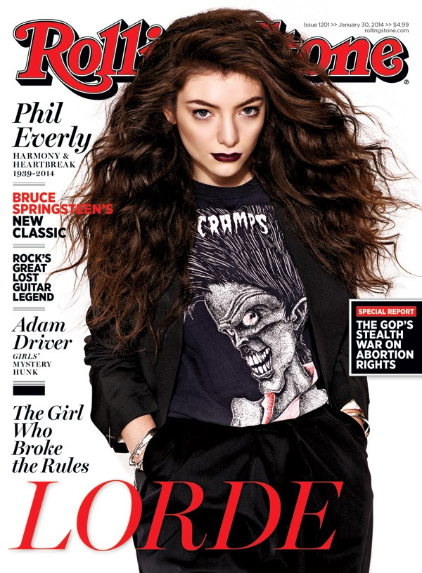 Lorde by Matthias Vriens-McGrath for Rolling Stone January  2014