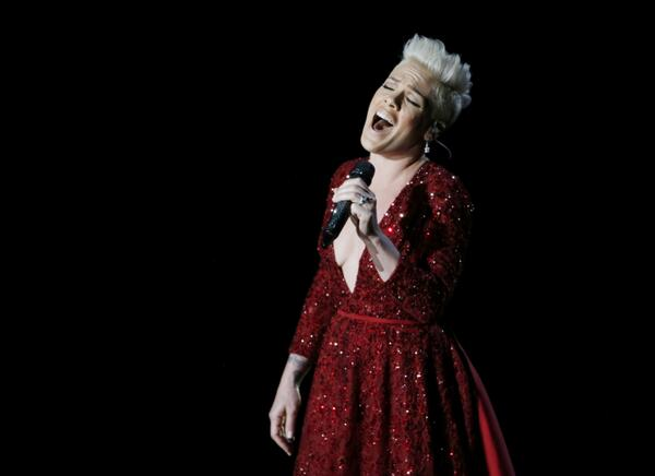 Pink Performs at Oscars