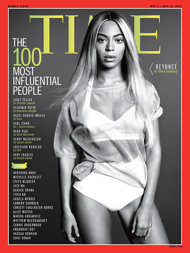 Beyonce TIME Magazine 100 Most Influential People 2014