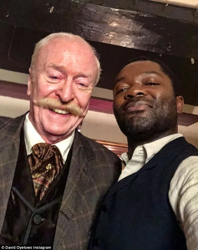 Oyelowo posed next to co-star Michael Caine