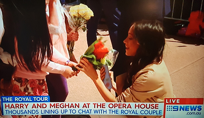 Prince Harry and pregnant Meghan Markle at the Sydney Opera House