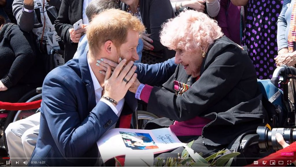 Prince Harry Introduces Meghan Markle to Daphne Dunne a 98 Year Old war Widow