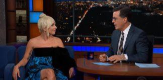 a star is born bradley cooper Stephen Colbert lady gaga stephen colbert